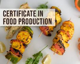certificate in food production courses