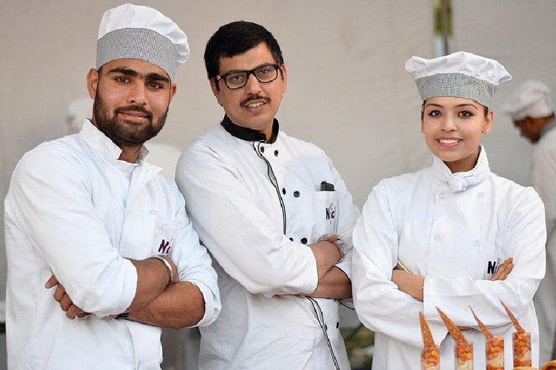 NFCI Chef and Students