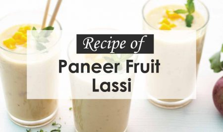 "Recipe of ""Paneer Fruit Lassi"""