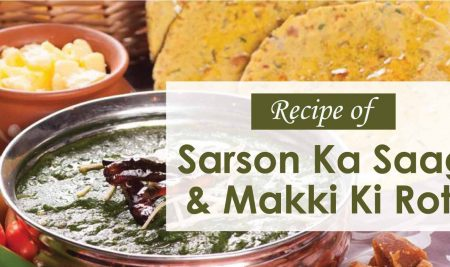 Recipe of Sarson Ka Saag & Makki Ki Roti