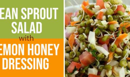 Bean Sprout Salad with Lemon Honey Dressing
